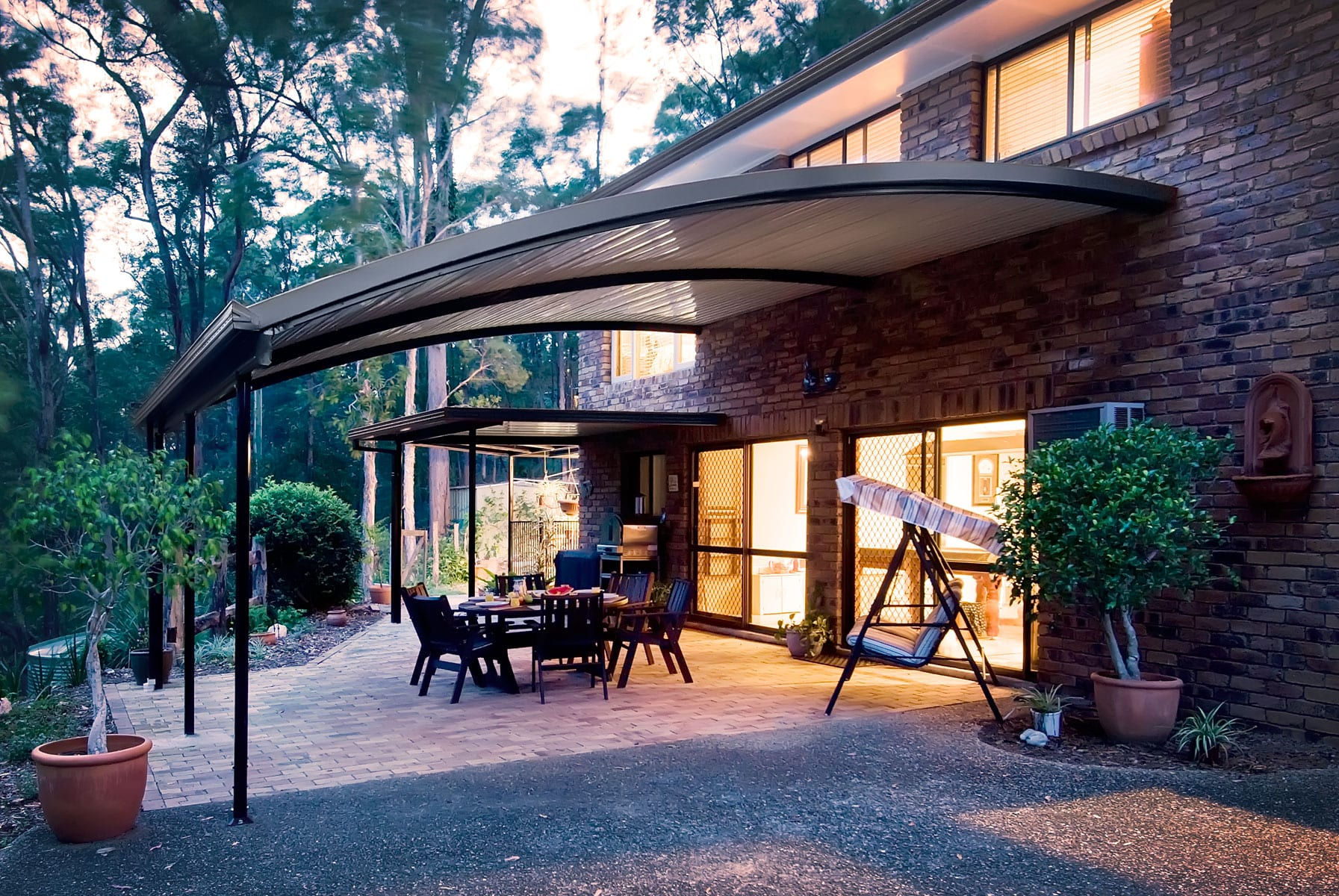 Stratco Outback Curved Patios In Perth Aussie Patio Designs